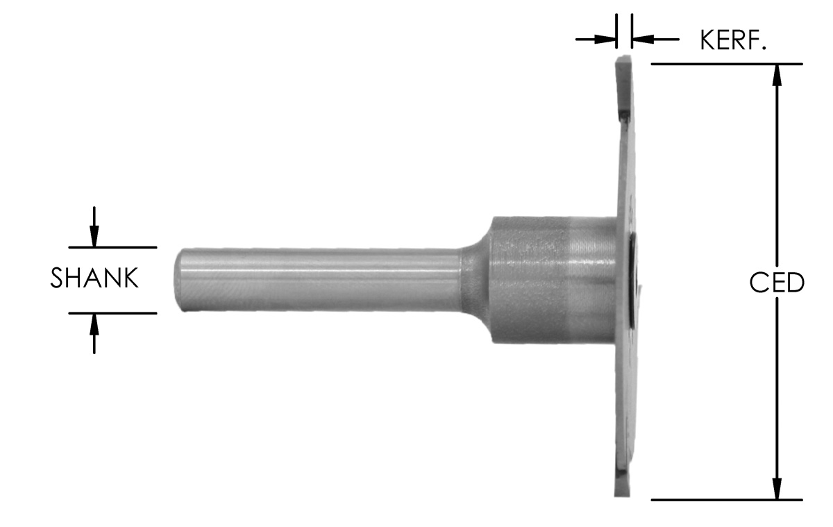 3-WING COUNTERSINK SLOT CUTTER - ASSEMBLY